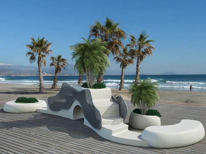 mobiliario urbano de diseño organico