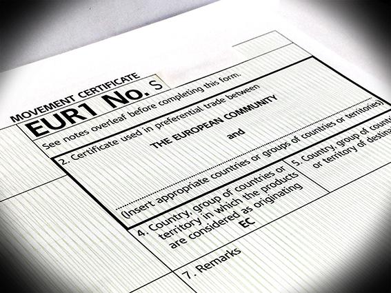 Certificado de Circulación EUR1