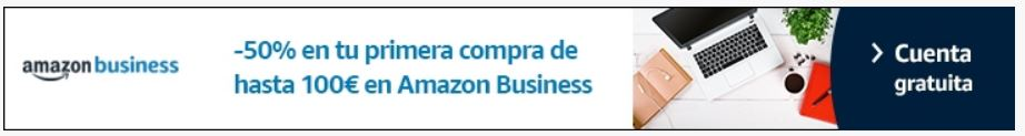amazon business descuento 50%
