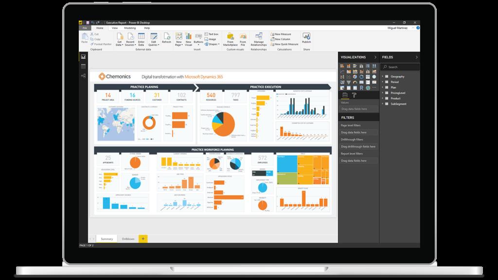 El Power Bi Microsoft visualiza y comparte todos los datos de la empresa