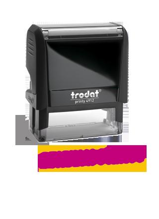 El sello fechador Trodat, se caracteriza por se más fuerte, rápido y limpio que el resto.