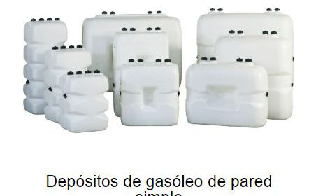 Depositos de gasoil de pared simple