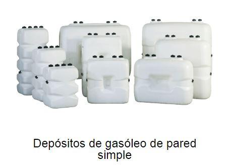 Depositos de gasoil de pared simple
